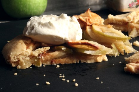 Apple Tart or Galette with cream cheese or icecream