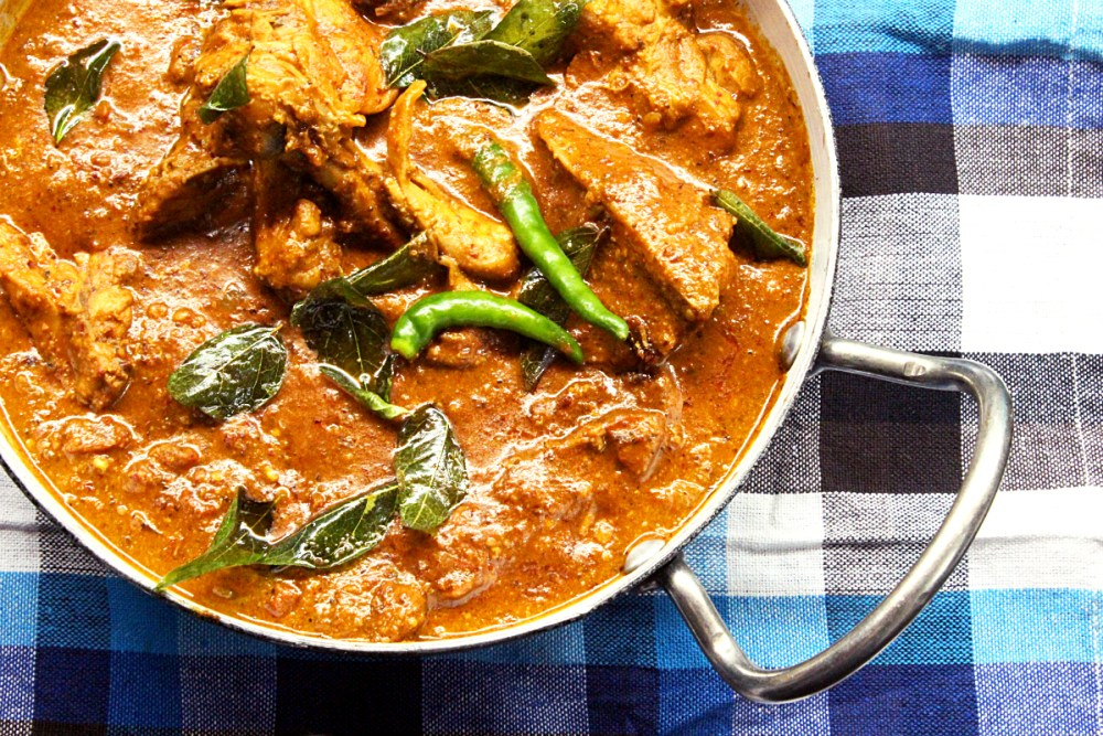 Andhra Style spicy Chicken Curry - South Indian Recipe