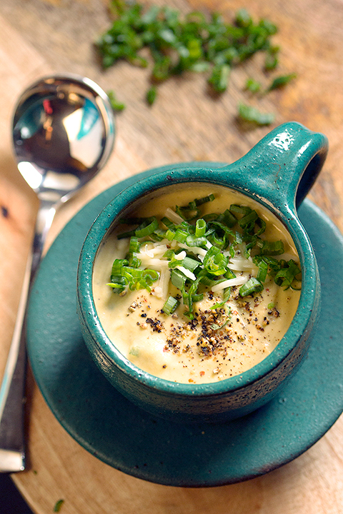 Keto Broccoli cauliflower and cheese soup for dontgiveafork