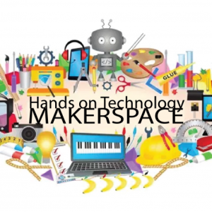 Graphic showing Hands On Tech Makerspace