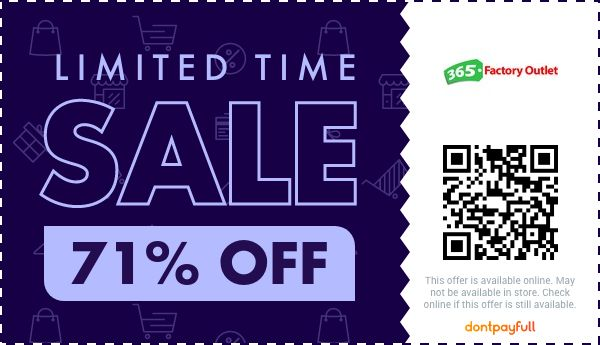 365 factory outlet coupon promo code