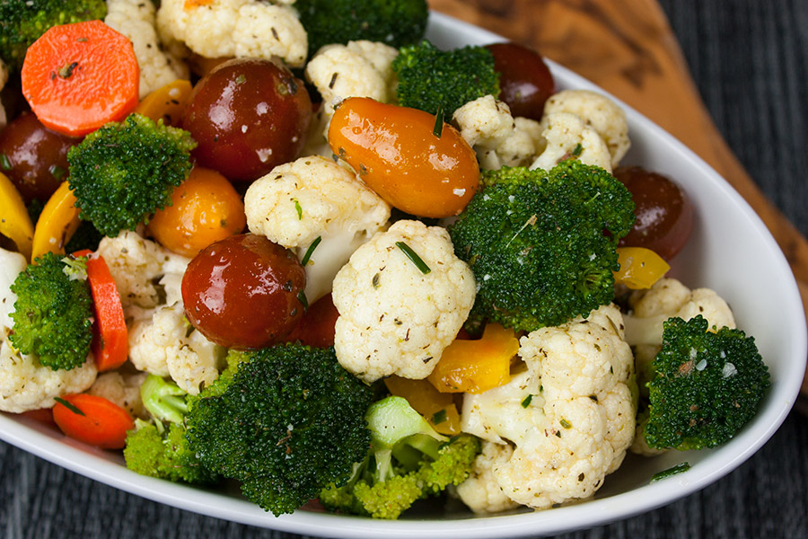 Healthy marinated fresh vegetable salad dont sweat the recipe healthy marinated fresh vegetable salad quick and easy to make ahead healthy forumfinder Images