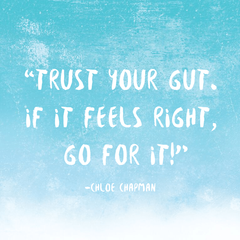 chloe chapman - trust your gut
