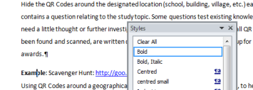 Writing an eBook - Use Word styles