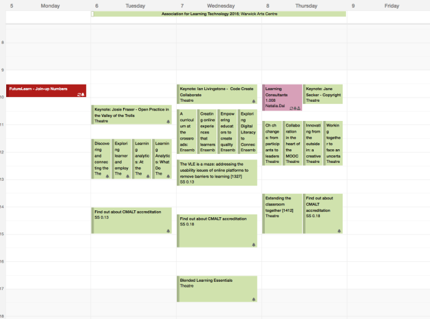 ALTC 2016 Outlook calendar