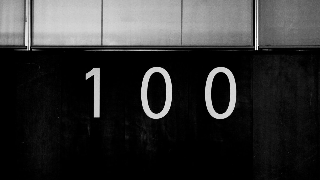 Door numbers showing digits 100