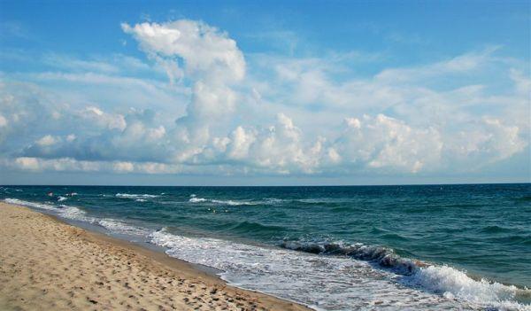 Фото море пляж: Морской песчаный пляж, пейзаж
