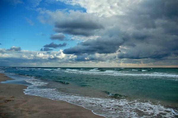 Красивые фото моря: Осеннее море, пейзаж