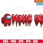 Download Among Us Red Logo (SVG dxf PNG) Game Impostor or Crewmate ...