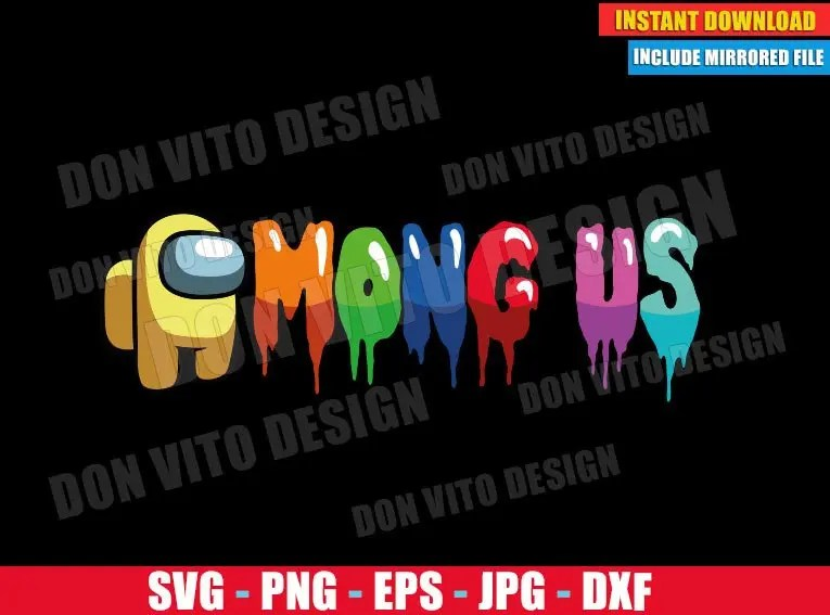 Download Among Us Yellow Logo (SVG dxf PNG) Game Impostor Crewmate ...