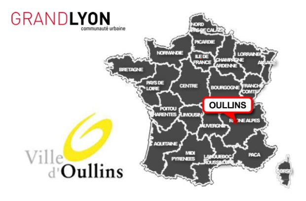 illustration pour Oullins, 1 Automazic dans le Grand Lyon