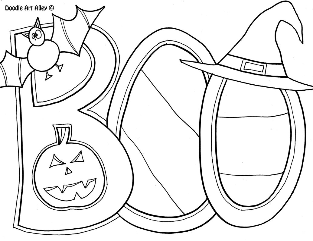 Halloween Coloring Pages Doodle Art Alley Sketch Coloring Page