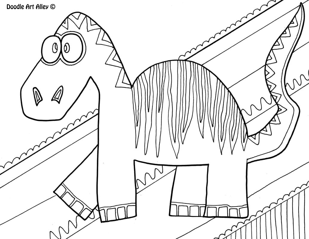 Scary Dinosaur Coloring Pages Photo Album