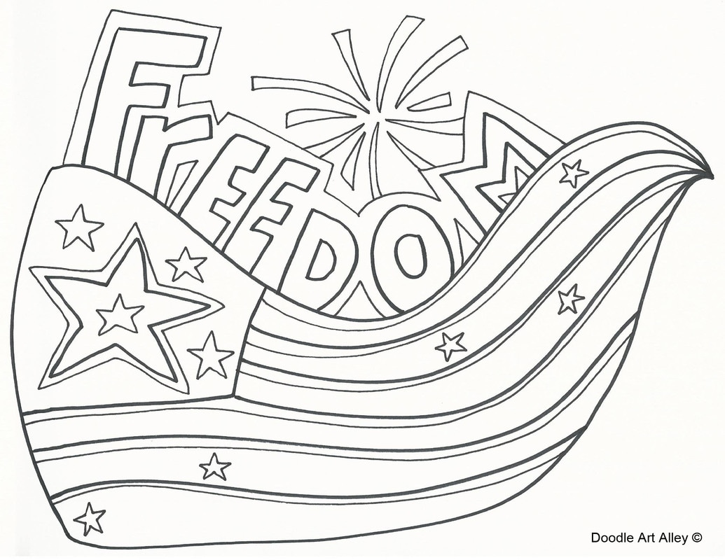 Independence Day Coloring Pages Printable