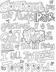 Courage Quote Coloring Pages - Doodle Art Alley | printable courage quotes coloring pages