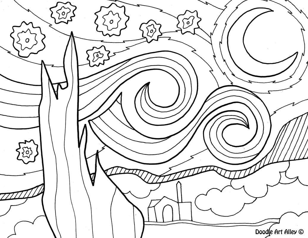 Art Coloring Pages Van Gogh