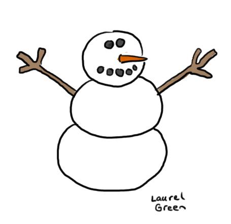 a doodle of a snowman