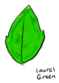 a drawing of a leaf