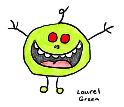 a drawing of a psychotic mr. man
