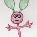 a drawing of a weird stick creature