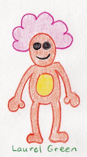 a drawing of a weird guy