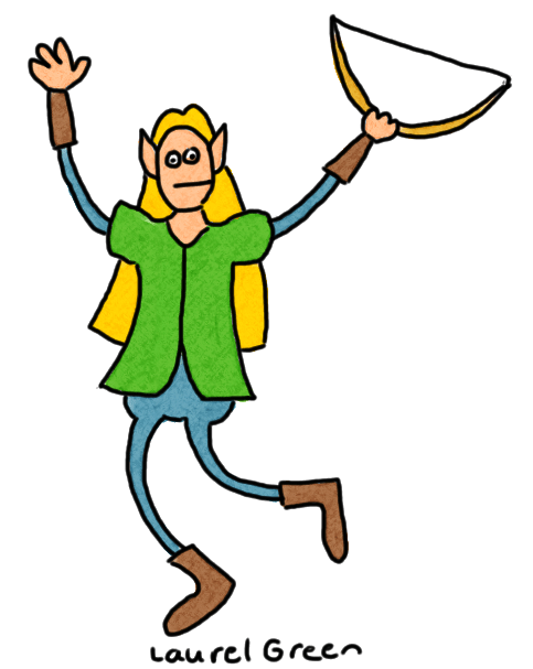a drawing of legolas greenleaf holding his bow