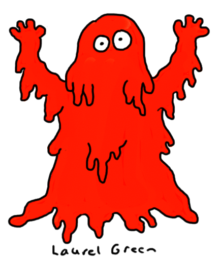 a drawing of carrie covered in blood