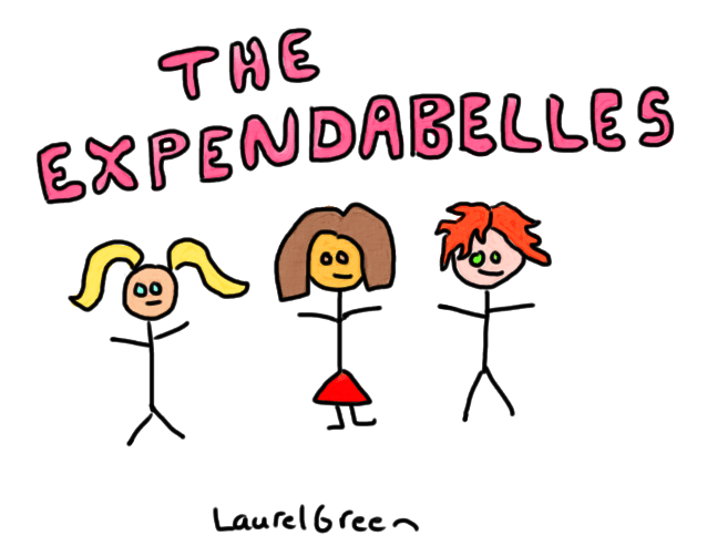 a drawing of the expendabelles