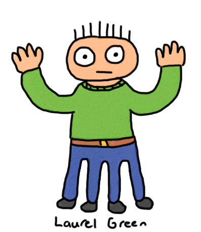 a drawing of a guy with four legs