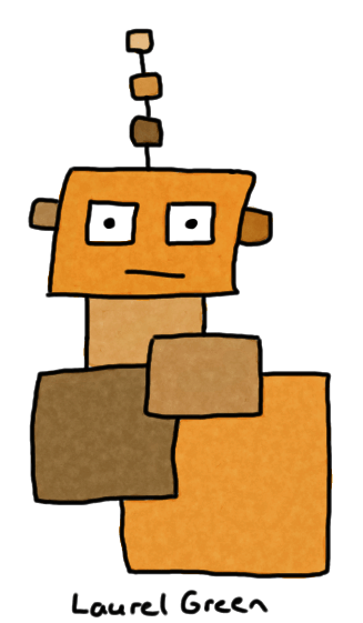 a drawing of a cardboard god