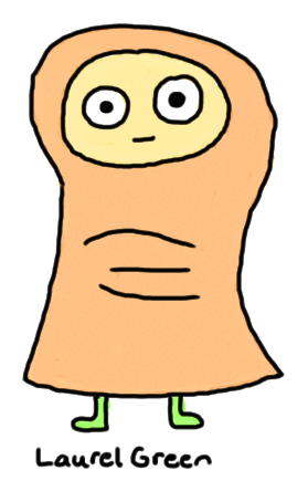 a drawing of a creature that is part human and part toe