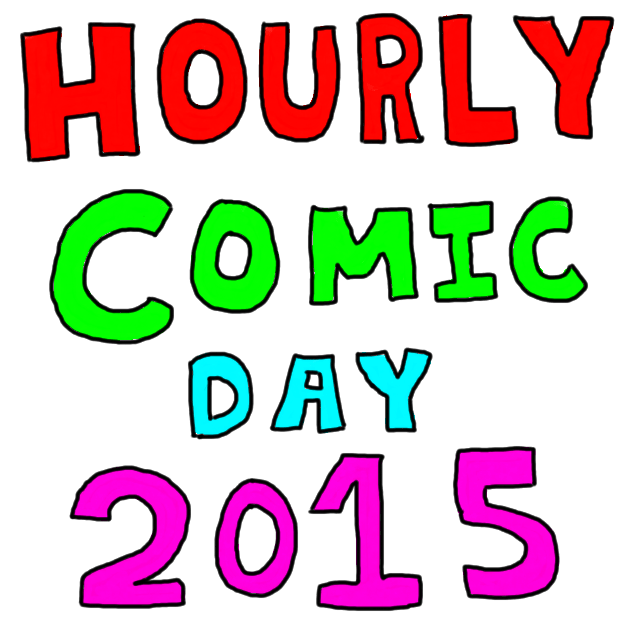 "the words ""hourly comic day 2015"""