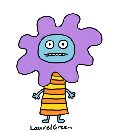 a drawing of a creature with a mane made out of goo