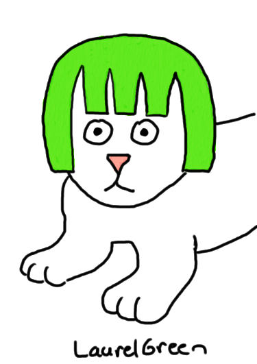 a drawing of limecat