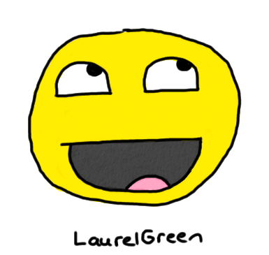 a drawing of the awesome smiley