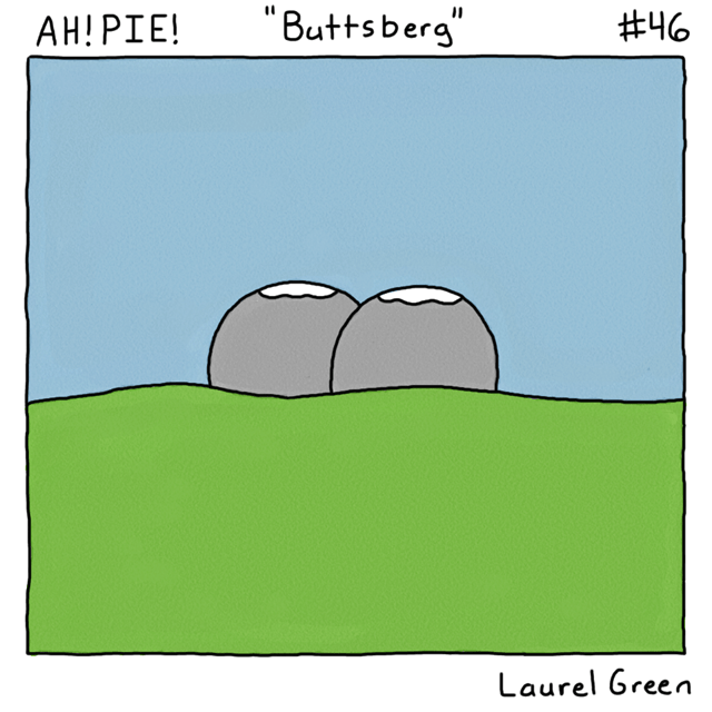 a comic about a butt-shaped mountain