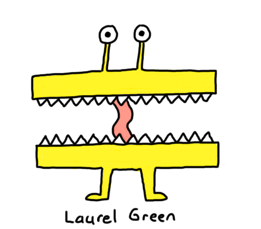 a drawing of a creature that is all mouth