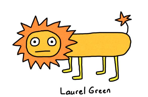 a poorly-drawn lion