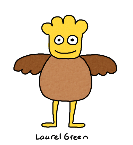 a drawing of a weird winged thing