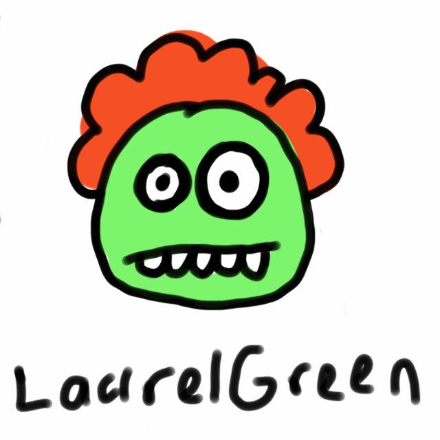 A badly-drawn head