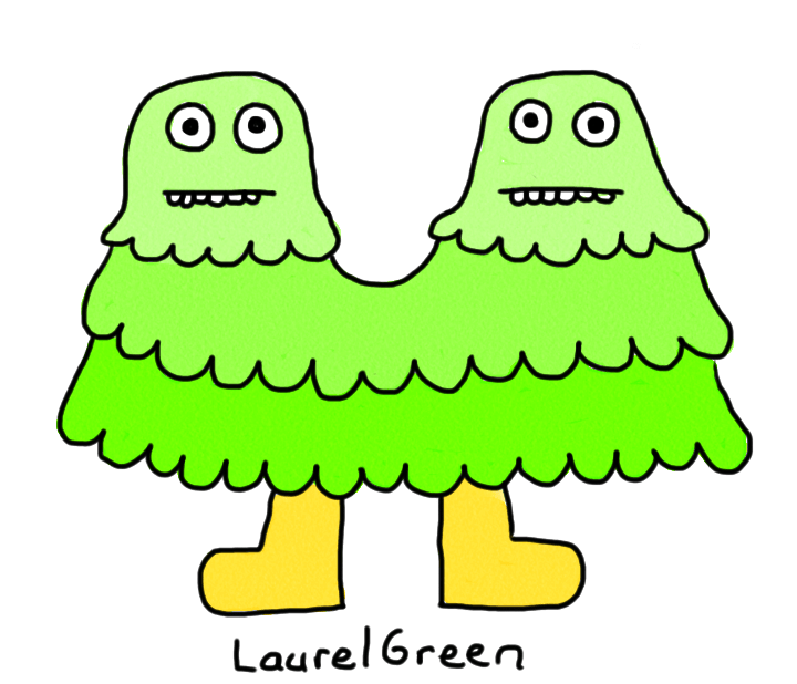 a drawing of a critter with two heads