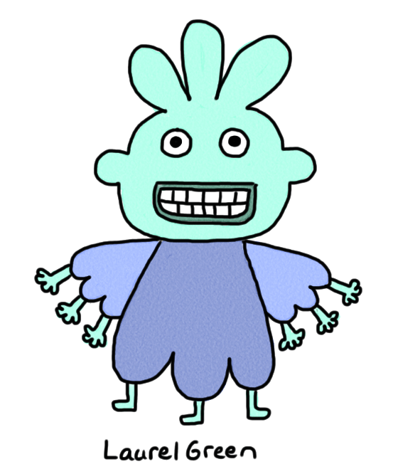a drawing of a person with six arms