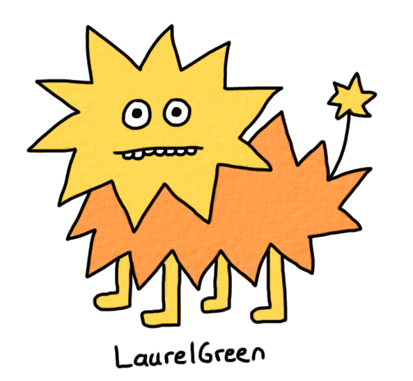 a drawing of a spiky dog