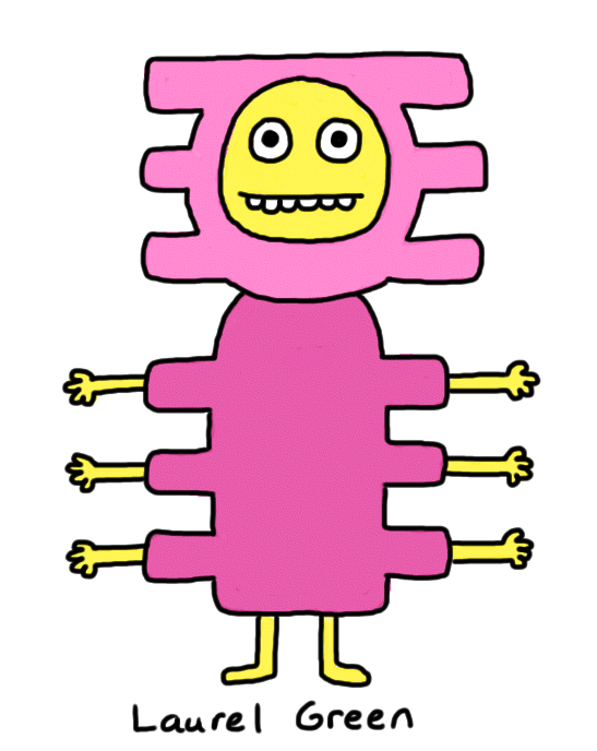 a drawing of a stupid creature with six arms