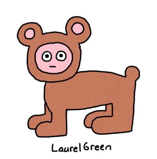 a drawing of a person wearing bear pyjamas