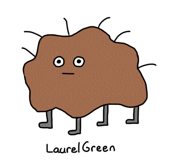 a drawing of a ball of dirt