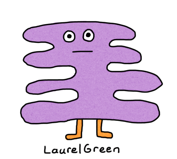 a drawing of a purple critter