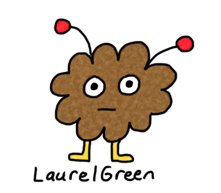 a drawing of a little, brown critter