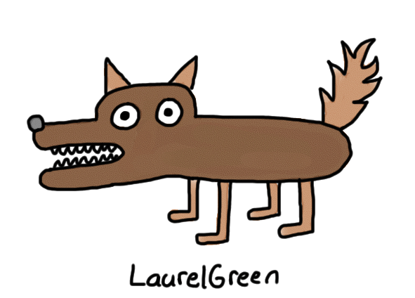 a drawing of a brown werewolf