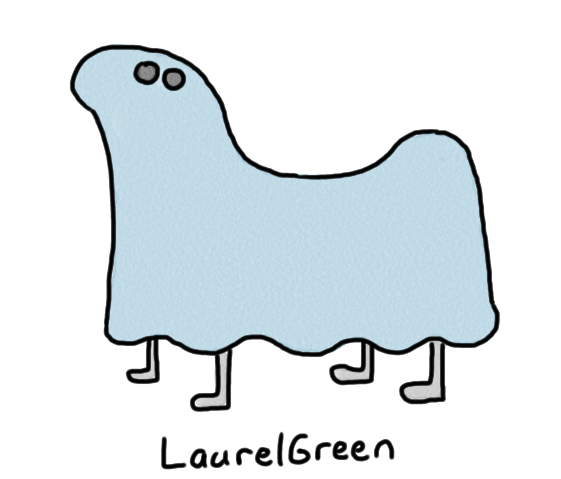 a drawing of a ghostly dog